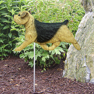 Norfolk Terrier Outdoor Garden Dog Sign Hand Painted Figure Black & Tan