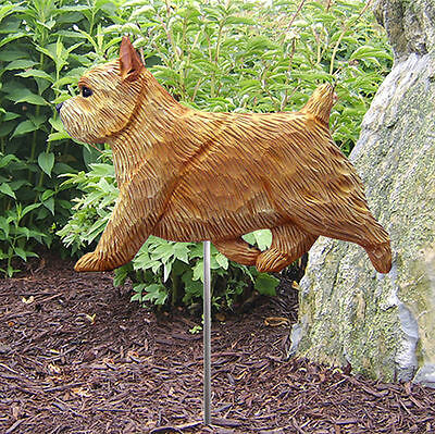 Norwich Terrier Outdoor Garden Dog Sign Hand Painted Figure Wheaten