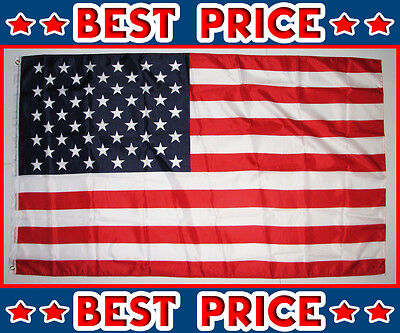 "10 USA AMERICAN FLAGS 3' X 5' 36"" X 60"" LOT WHOLESALE BEST PRICE FREE SHIPPING"