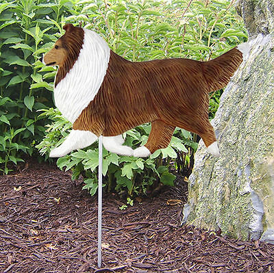 Shetland Sheepdog Outdoor Garden Dog Sign Hand Painted Figure Sable