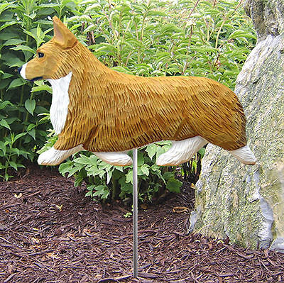 Welsh Corgi Pembroke Outdoor Garden Dog Sign Hand Painted Figure Blonde