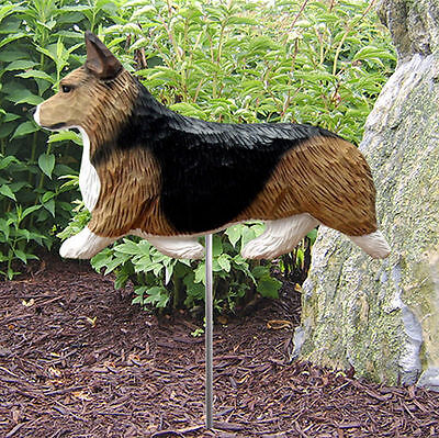 Welsh Corgi Pembroke Outdoor Garden Dog Sign Hand Painted Figure Sable