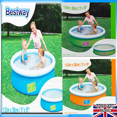 Paddling Pool Baby Toddler Kids Childs 2 Ring Small 56cm Inflatable Swimming fun