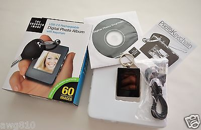 The Sharper Image Digital Photo Album With Key Chain
