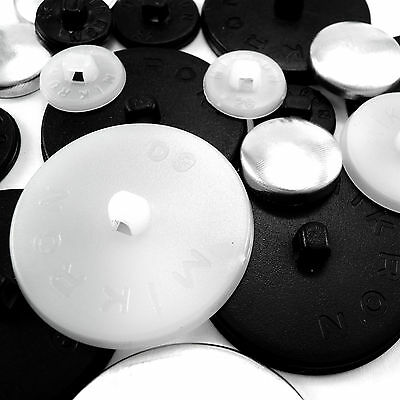 100 sets button blanks for cover buttons in various size's plastic backs