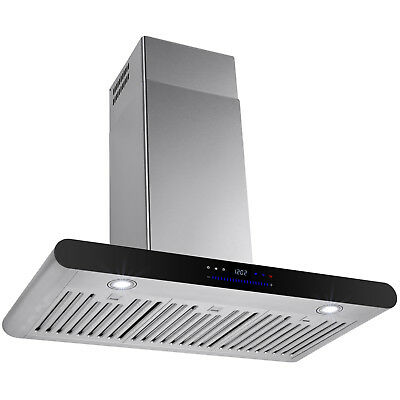 "30"" Euro Style Wall Mount Kitchen Stainless Steel Range Hood w/ Powerful Blower"