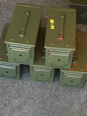 3 x 50cal M2A1 US USGI Military Surplus Ammo Can box chest (Pack Of 3)