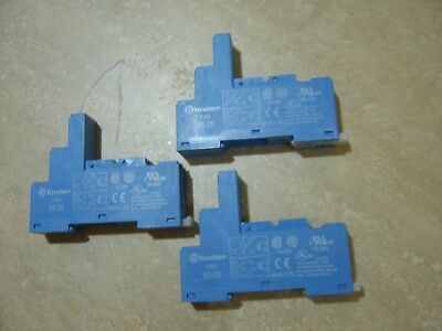 3 x FINDER 95.05 Relay Socket for Use With 40.51, 40.52, 40.61, 44.52, 44.62