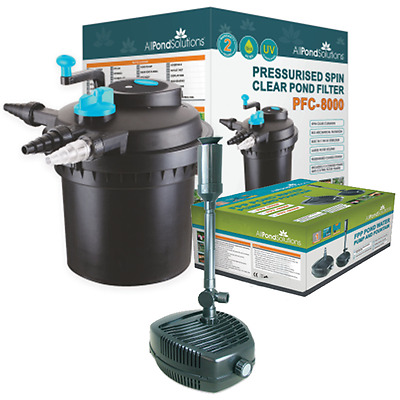 Pressurised Complete Pond Filter - All in One - Filter / Pump / UV Steriliser