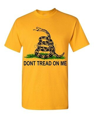 NEW Don't Tread on Me black logo T-SHIRT American Pride Gadsden Flag tees