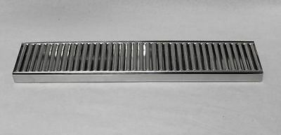 """19"""" x 4"""" Stainless Beer Tap Coffee Faucet DRIP TRAY PAN with grate no drain"""