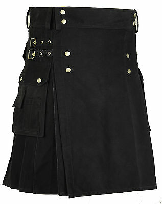 Scottish Cotton Kilt Deluxe Tartan Goth Outdoor Utility Kilts Highland Skirt