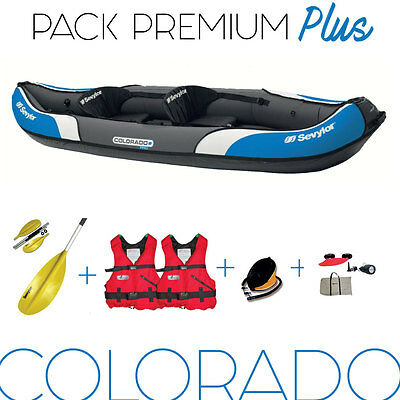 PACK KAYAK COLORADO SEVYLOR. Gilets + pagaies + pompe.
