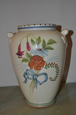 "Weller Pottery Bonito 11"" Handled Vase Hand Painted Signed ""HP"" Hester Pillsbury"