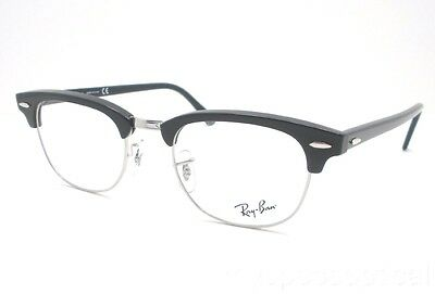 b361206d13 Ray Ban RB 5154 2000 49 Clubmaster Black Eyeglass Frame New 100% Authentic