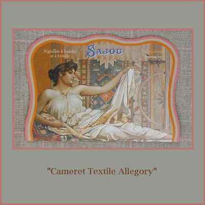 "Sajou Vintage Replica Needle Card  ""Cameret Textile Allegory"""