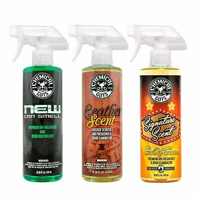 Chemical Guys AIR_301 - New Car Scent & Leather Scent & Signature Scent (16 oz)