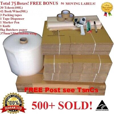 Completed Pack MOVING BOXES  PACKING MATERIALS CARDBOARD REMOVALIST PACKAGING