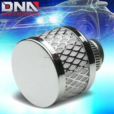 9MM UNIVERSAL CRANKCASE VALVE VENT MESH WHITE AIR INTAKE FILTER/BREATHER+CLAMP