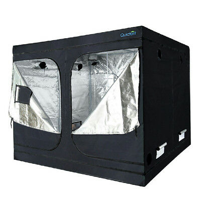 "Quictent 96""x96""x78"" Reflective Mylar Hydroponic Grow Tent with Waterproof Tray"