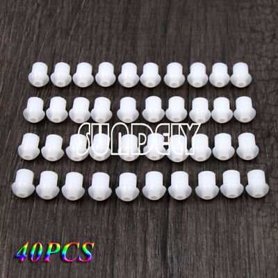 Lot Of 40 Earbuds For Radio Earpiece - Rubber Mushroom Eartip Ear Bud Silicone