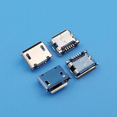 10Pcs Micro USB Type B Female 2Legs 5Pin SMT PCB Solder Socket Connector