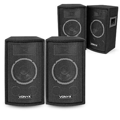"4x Skytec 6"" Inch Passive PA Speakers Party Disco Stage DJ Sound Package 600W"