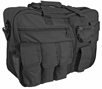 NEW Black Canvas TACTICAL 35L Multifunctional CARGO BAG Flight Backpack Holdall