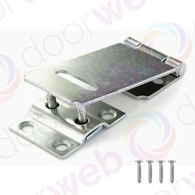 HASP AND STAPLE Gate Door Shed Latch Lock For Padlocks ZINC 90mm 115mm 150mm