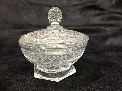 Imperial Cape Cod Glass Clear Crystal Covered Marmalade Bowl HTF  MINT