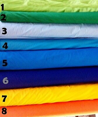 "Broadcloth Apparel Fabric Solid Cotton Polyester Blend 60"" 27 Colors By The Yard"