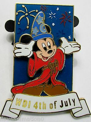 Disney WDI Sorcerer Mickey 4th of July LE 300  Pin