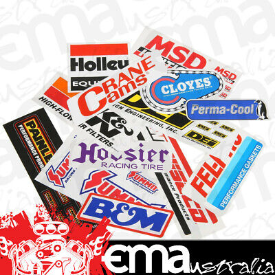 Performance Sticker/decal Pack 10 Random Individual Peel-N-Stick Stickers Ps2014