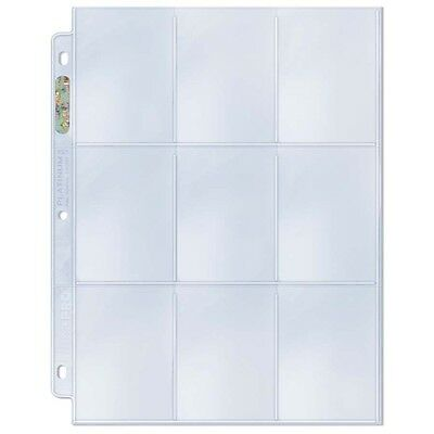 (50) Ultra Pro PREMIUM 9-Pocket Trading Card Album Pages PLATINUM Hologram