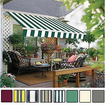 Manual Awning Canopy Garden Patio Shade Shelter Aluminium Retractable Greenbay