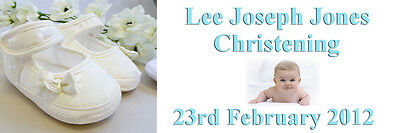PERSONALISED PINK CHRISTENING BAPTISM BANNER LARGE 1500MM X 500MM ANY TEXT PHOTO