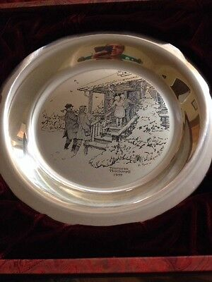The Sixth Annual Franklin Mint Christmas Plate By Norman Rockwell