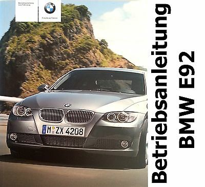 Original BMW E92 Operating instructions Handbook 320 325 325xi 330 330xi 335
