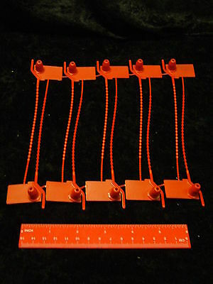 30 Tamper Proof Seals Numbered in Sequence in Red Safcon Ball-Lok High Security