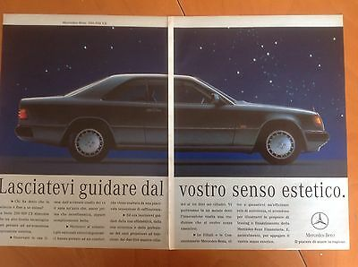 ADVERTISING PUBBLICITA'  MERCEDES-BENZ   200 -  300 senso estetico  -  1991
