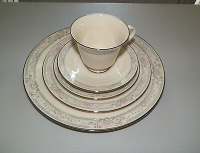 Lenox Charleston Five (5) Piece Place Setting Dinner Salad Bread Cup Saucer Euc