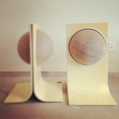 Funky Mid-Century 60's 70's Acrylic Space Age Iconic Speakers