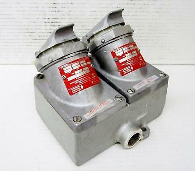 CROUSE HINDS CPS732R ARKTITE 30A 3W4P 60HZ FS DELAY DUAL RECEPTACLE w/CPS732 EN