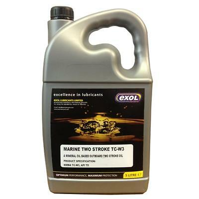 5 LTR Outboard MARINE 2 Stroke oil TC-W3 - boat engine outboard motor oil