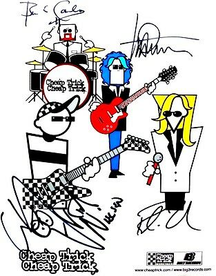 CHEAP TRICK signed 8x10 RP