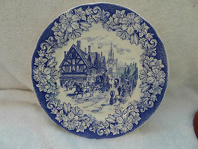 Ironstone Tableware Patented Design Made in Italy Old City Scene Plate