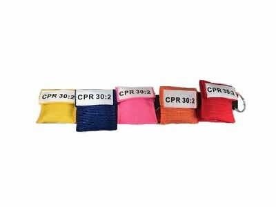 100 Assorted Color CPR Keychain Mask Face Shield Disposable 5 Colors!!