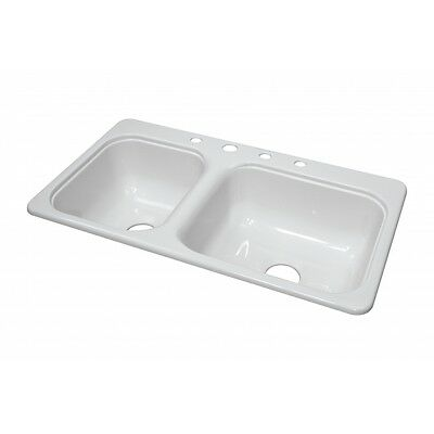 """Lyons Deluxe DKS01CB4-3.5 White 33""""X19"""" Manufactured/Mobile Home Acrylic 8"""" Deep"""