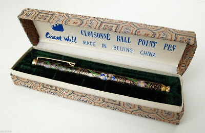 1960s China Vintage Enameled Chinese GREAT WALL BALL POINT PEN with Original Box