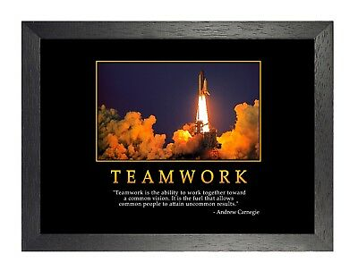 Motivation 2 Teamwork Andrew Carnegie Business Magnate Famous Quote Poster Print